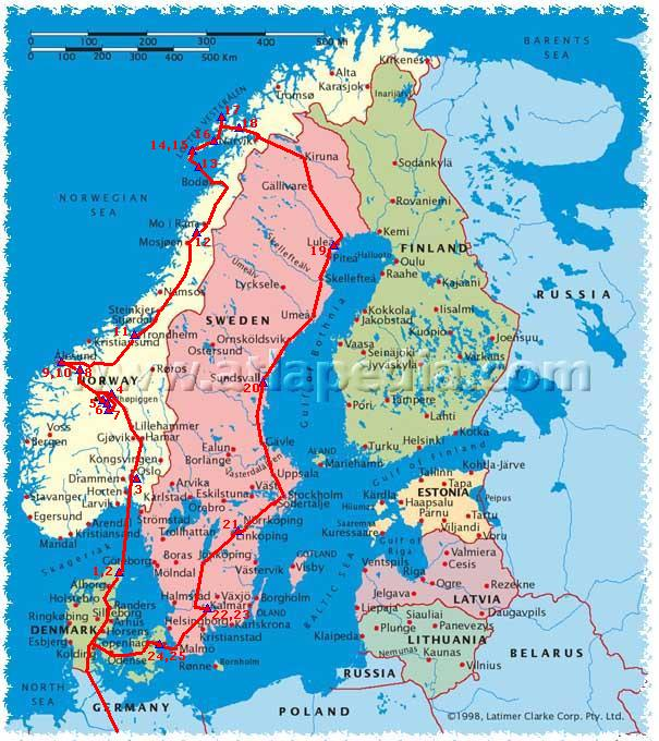 Reisverslag Noorwegen 2002